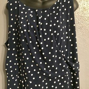 Charter Club Dresses - Charter Club Plus Polka Dot Print Dress